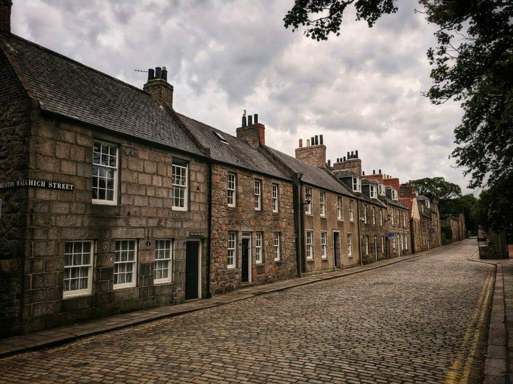 Aberdeen Altstadt - Strasse Häuserfront
