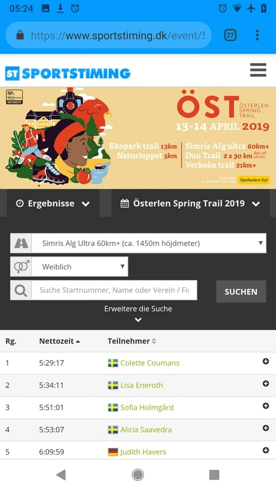 Österlen Spring Trail - sportstiming