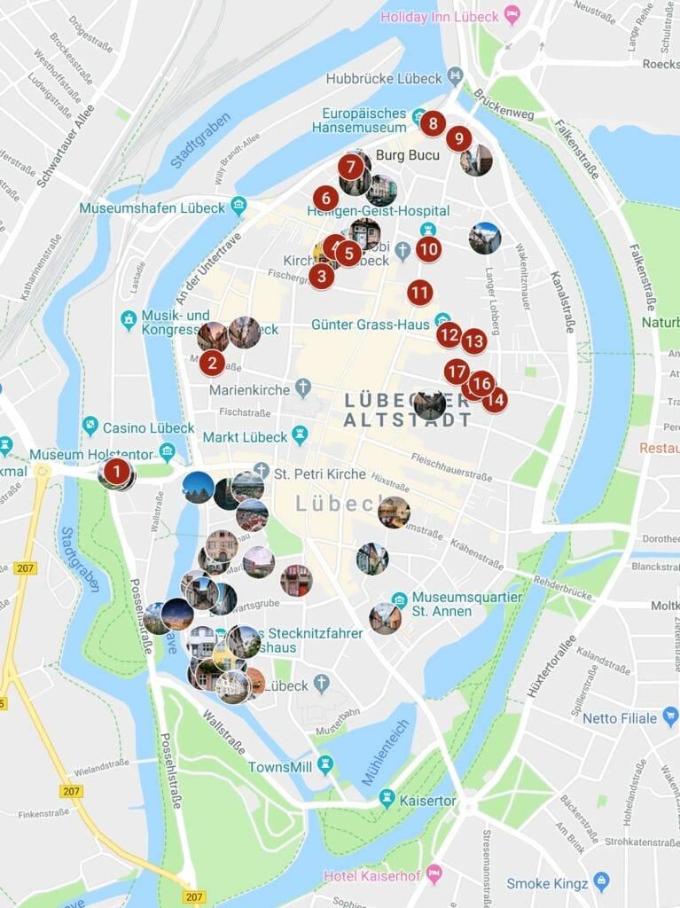 Fotospots Lübeck Karte