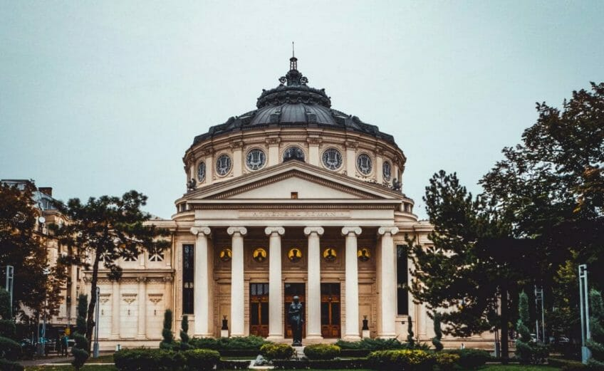 Rumänisches Athenaeum - Stockfotografie