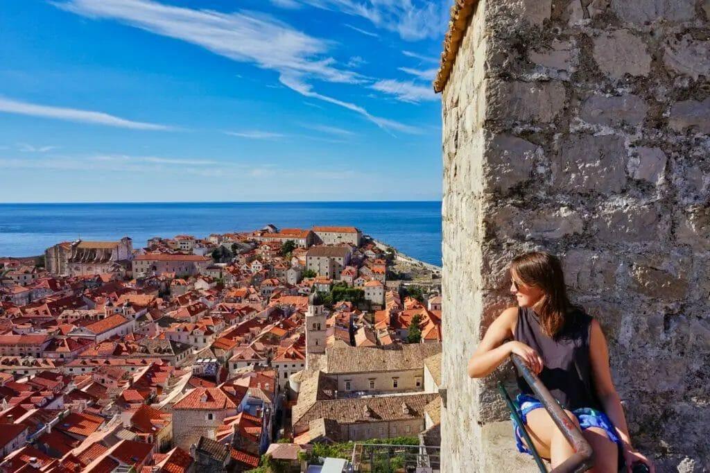 Schönsten Reiseziele Europa - Ausblick auf Dubrovnik Kroatien