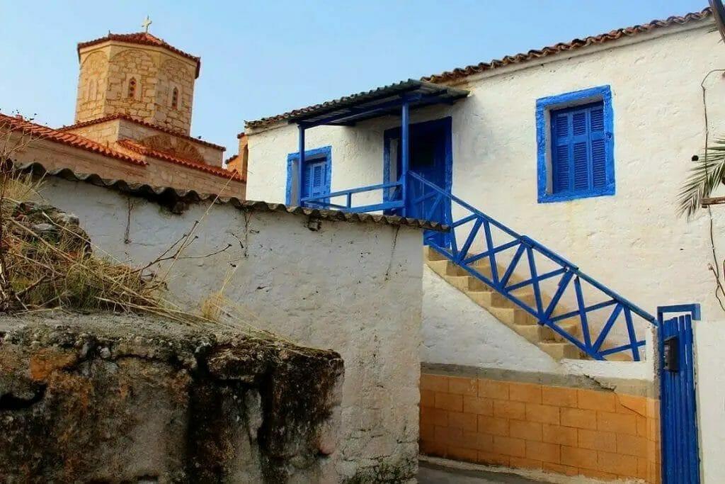 Altstadt von Megalochori auf Insel-Angistri