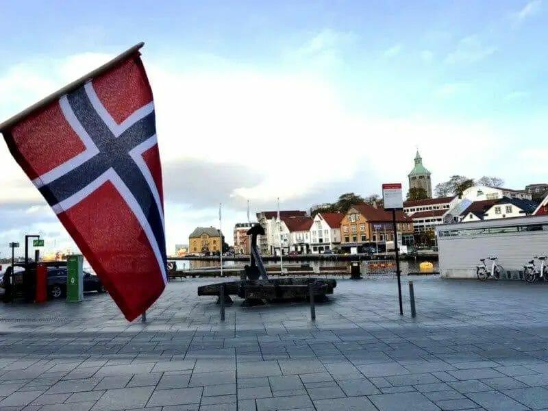 Die schönsten Urlaubsorte in Europa - Stvanger Norwegen - Fahne