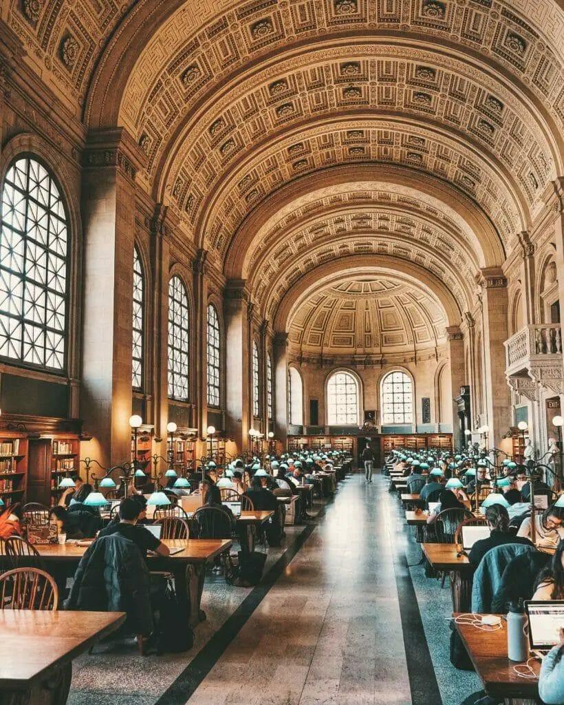 Öffentliche Bibliothek - Öffentliche Bibliothek von Boston