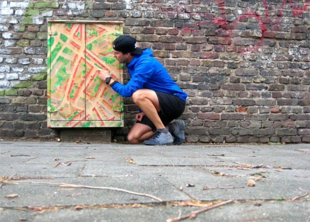 Straßenkunst - Bürgersteig
