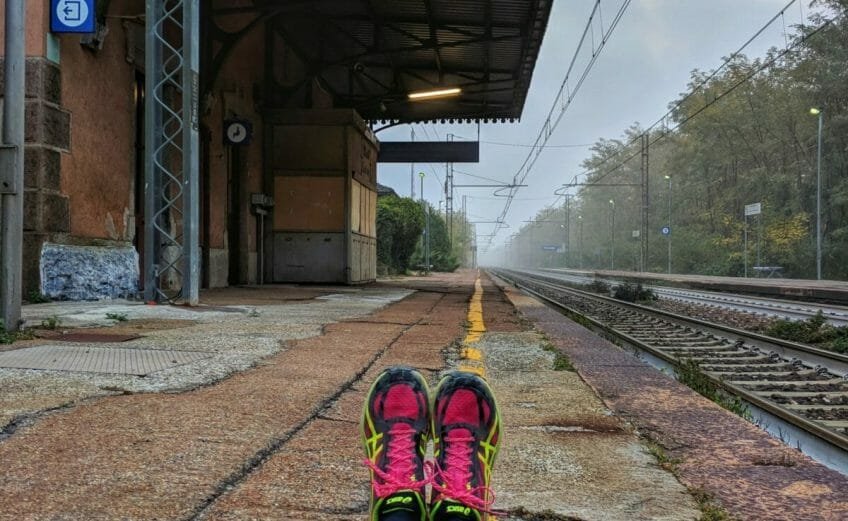 UTLO Ultratrail Italien - Bahnhof Cuzzago
