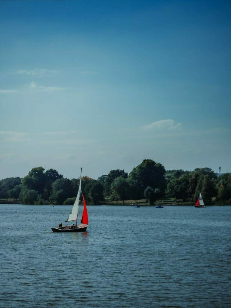 Münsterland - Münster - Aasee -Segelboot