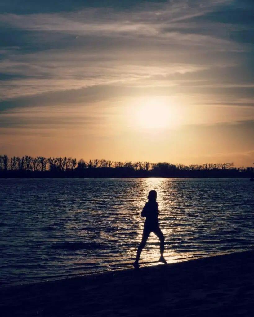 Ufer - Sonnenuntergang