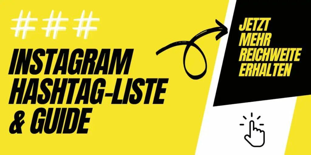 Hashtag Guide Banner Gelb