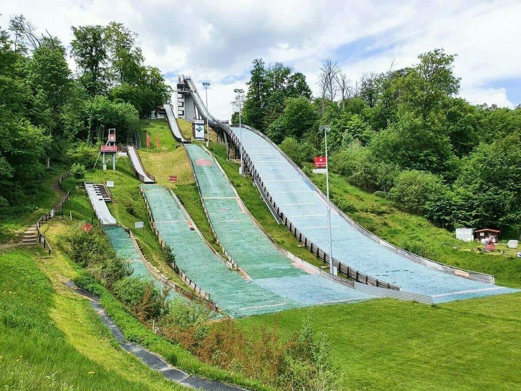 Ausflugsziele Brandenburg - Skisprungschanze Bad Freienwalde