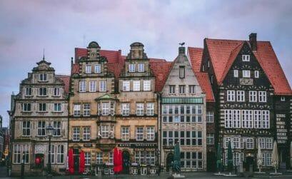 Bremen Sehenswürdigkeiten -Bremen Marktplatz - Häuserreihe